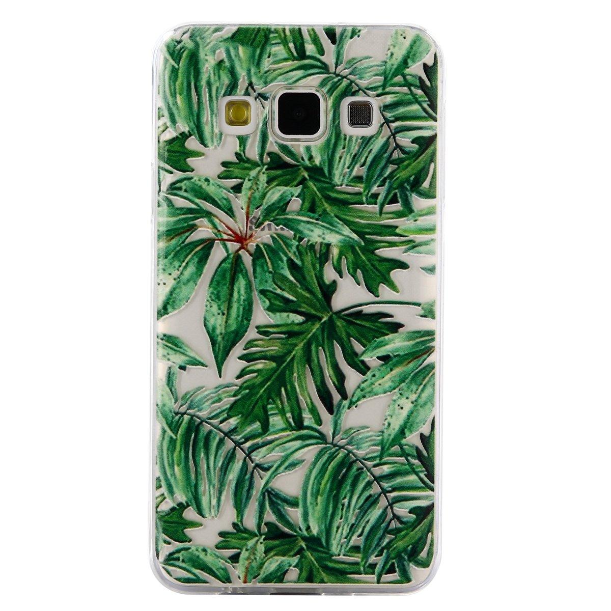 Ultra Slim Custodia Trasparente Silicone Morbido Shock-Absorption Cover per Samsung Galaxy A3 2015-Lace Pattern SainCat Custodia Galaxy A3 2015