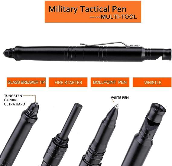 EDC Prepper Survival Glass Breaker Defence RING *Gun Grey* Emergency  Suit V-W