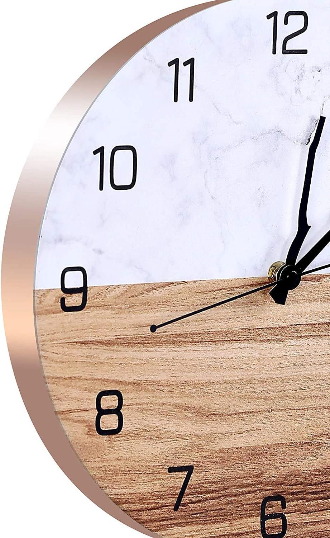 Orologio da Muro al Quarzo con Movimento Silenzioso Sweep Vintage Orologio da Muro Orologio da parete Moderni 30cm Orologio da parete Oderni Grande Cucina Orologio da parete Moderno