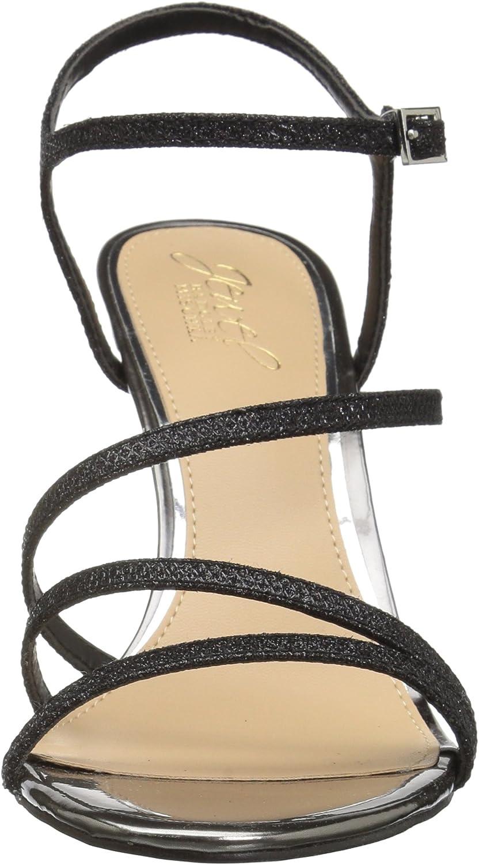 black satin M095 M US Jewel Badgley Mischka Womens MARIMBA Sandal