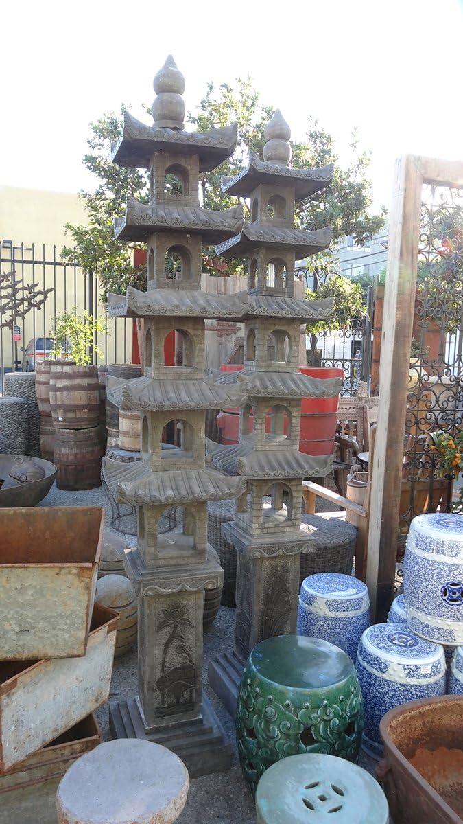 Pagoda farol de jardín de piedra: Amazon.es: Hogar