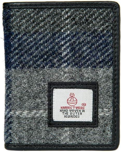 New Harris Tweed Wallet Green Herringbone