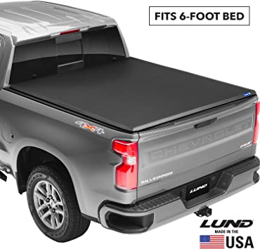 Amazon Com Lund Genesis Tri Fold Soft Folding Truck Bed Tonneau Cover 950113 Fits 2019 2021 Ford Ranger 6 1 Bed 72 7 Automotive