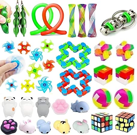 PROKTH 22-Pack Sensory Toys Set Relieves Stress and Anxiety Fidget Toy Special Fidget Toys Birthday Party for Kids and Adults