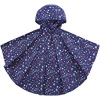 URBEAR Unisex Niñas Niños Impermeable con capucha impermeable de la lluvia del poncho, 80-160cm