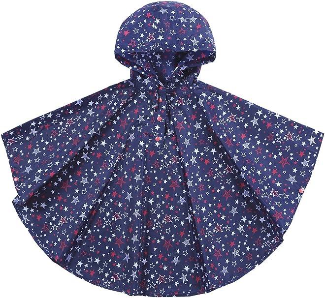 URBEAR Poncho Impermeabile da Bambini Mantella Pioggia Antipioggia Poncho con Bag 80-160cm