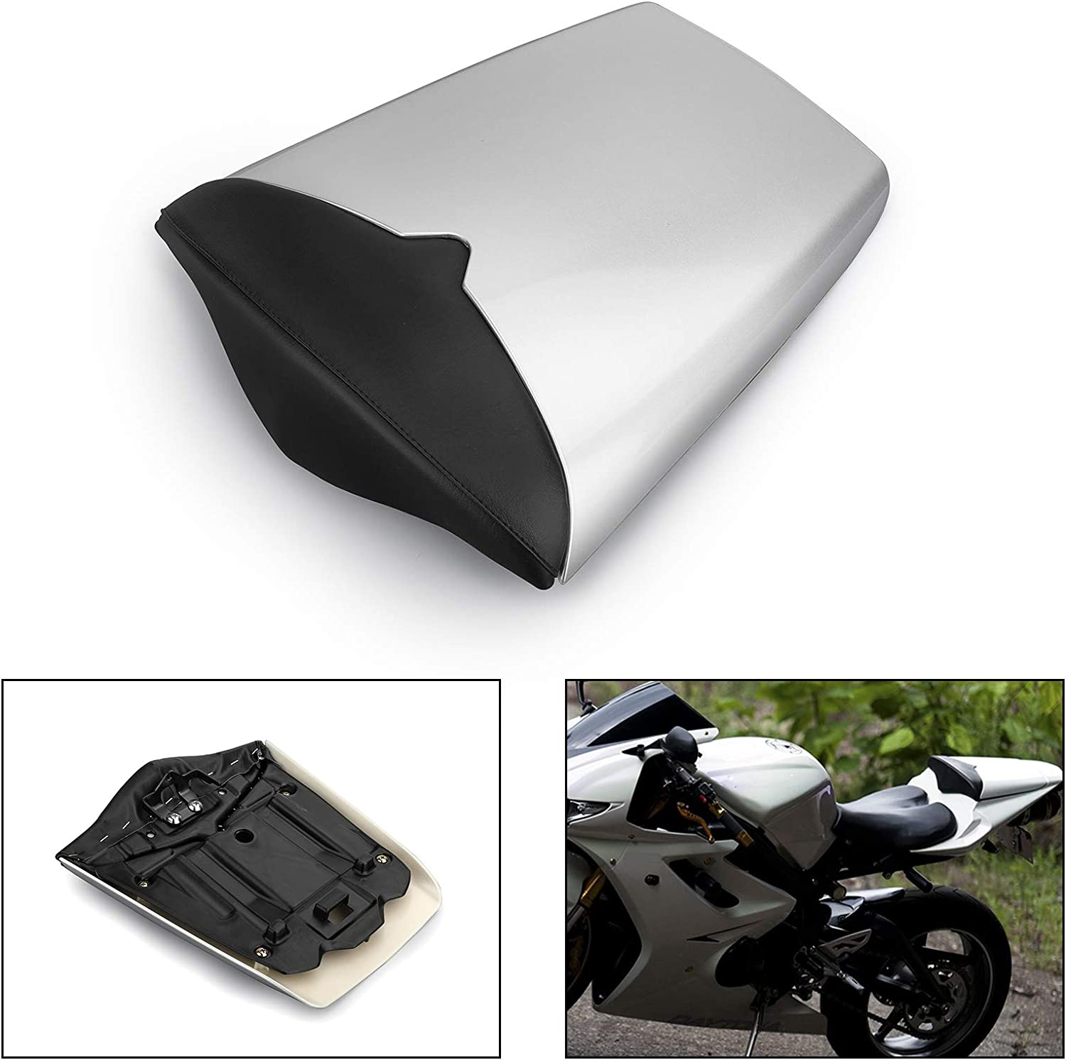 Artudatech Motorbike Rear Seat Cover Cowl Passenger Pillion Motorcycle Seat Cowl Fairing Tail Cover for Trium-ph Day-tona 675 2009 2010 2011 2012