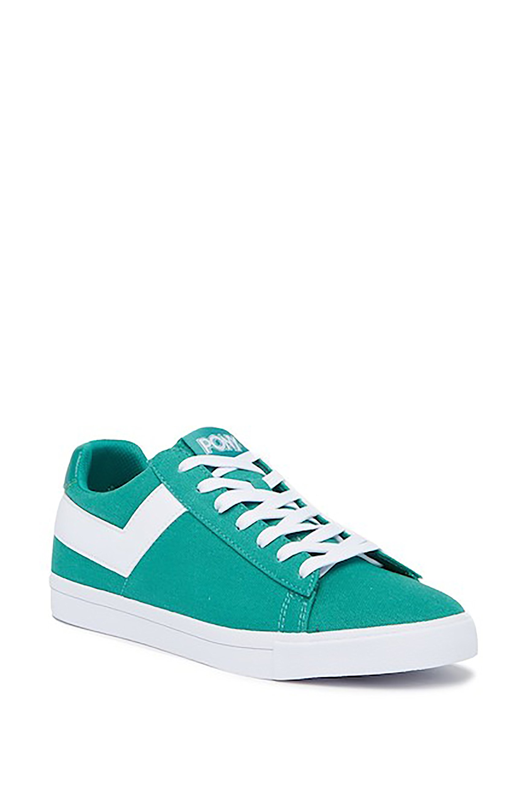 Pony TOP Star LO CORE Womens Canvas Low Top Lace up Fashion Sneakers (10 US, Aqua White)