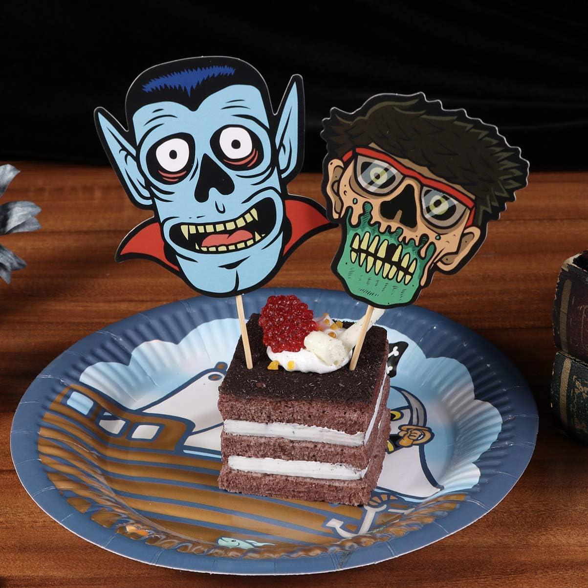 Amosfun 48 piezas de decoración para tarta de Halloween, diseño de ...