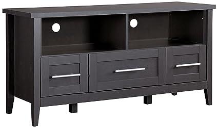 tv stand with drawers Amazon.com: Baxton Studio TV Stand 3 Drawers, Espresso: Kitchen  tv stand with drawers
