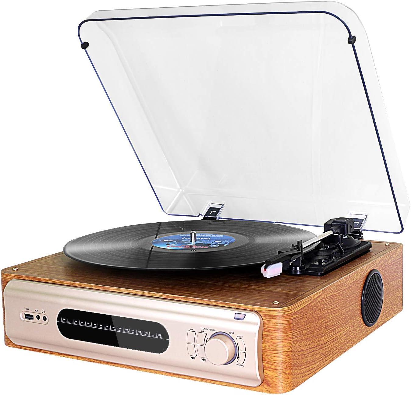 3-velocidades Tocadiscos de Vinilo Vintage dl Turntable FM ...