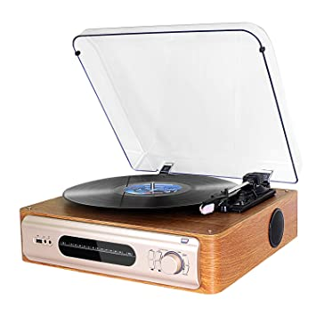 Tocadiscos DLITIME Record Player FM 3 Speed Player con ...
