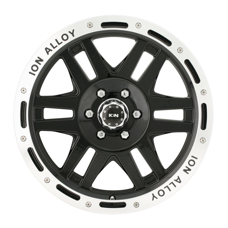 17x9//5x127mm Ion Alloy 133 Black Beadlock Wheel