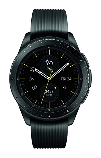 6237b25c2c7f7 Amazon.com  Samsung Galaxy Watch (42mm) Midnight Black (Bluetooth)  SM-R810NZKAXAR – US Version with Warranty  Cell Phones   Accessories