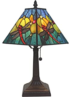 Tiffany style dragonfly table lamp red and blue 18 inch amazon amora lighting am288tl08 tiffany style dragonfly table lamp keyboard keysfo Gallery