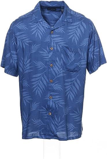 John Ashford Mens Blue Camp Shirt