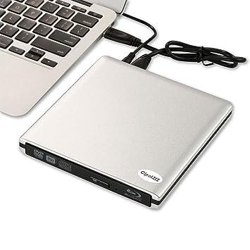 cipotziz externa BD/DVD/CD Grabador y reproductor multimedia, USB 3.0 externa BD