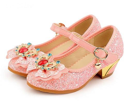 4d42d495 YOGLY Niñas Zapatos de Tacón Princesa Sandalias para Niñas, Princesa  Zapatillas de Baile: Amazon.es: Zapatos y complementos