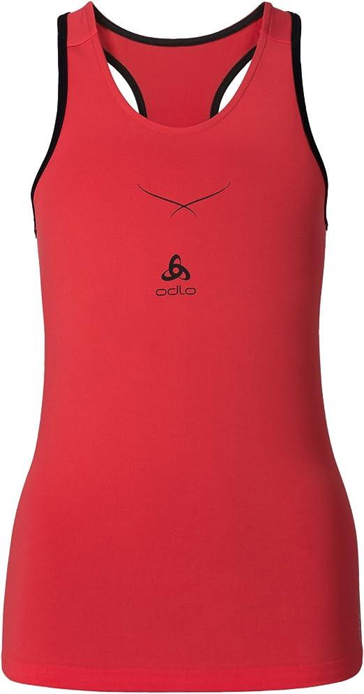 Odlo Camiseta Mujer, con Cuello Redondo. con tecnología ceramicool.