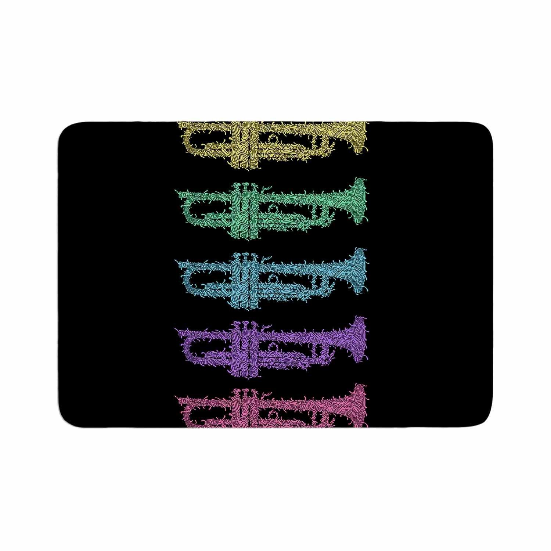 Kess InHouse BarmalisiRTB Trumpet Arch Multicolor Music Memory FoamBath Mat, 24 by 36'