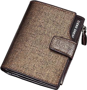 Men/'s Slim Genuine Leather Wallet ID Money Bag Credit Card Holder Money Pocket