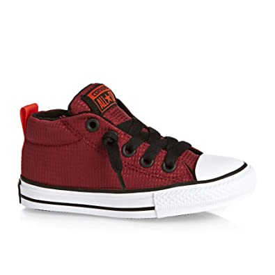 690f91ed5b20 Converse Junior CTAS Street Mid 654254C Sneakers Red Black White UK 1