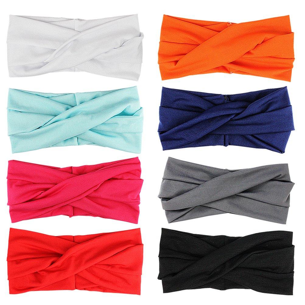 speciales neues Design f/ür Damen HBF 8 stk mehrfarbig Kopfband Haarspange