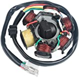 71InMyLeCSL._AC_UL160_SR160160_ amazon com magneto stator ignition generator 8 poles coils gy6 gy6 6 pole stator wiring diagram at mifinder.co
