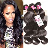 Unice Hair 3bundles 100% Real Unprocessed Brazilian Virgin Human Hair Body Wave Hair Extensions (10 12 14)