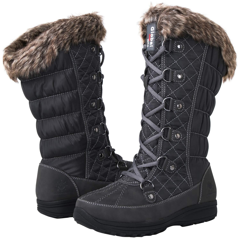 Globalwin Women's 1816 Snow Boots (9 M US Women's, 1816Grey)