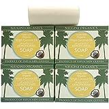 Niugini Organics Virgin Coconut Oil Soap - 4 Pack Lemongrass Soap Bars. Multi Award Winner.