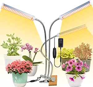 150W LED Grow Light, Deaunbr 315 LEDs Plant Lights Full Spectrum 3 Arms Clip Plants lamp Grow Lamps with 6 Dimmable Levels, 3 Lighting Modes, 3H/6H/9H Timer Function for Indoor Plants
