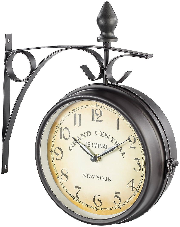 Horloge de gare rétro double face: St. Leonhard: Amazon.fr: Montres