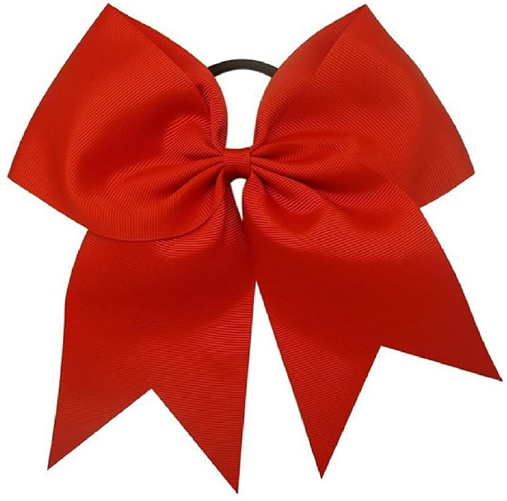 Red Cheer Bow On Ponytail Holder NWOT-Free shipping Approximately 8 Inches