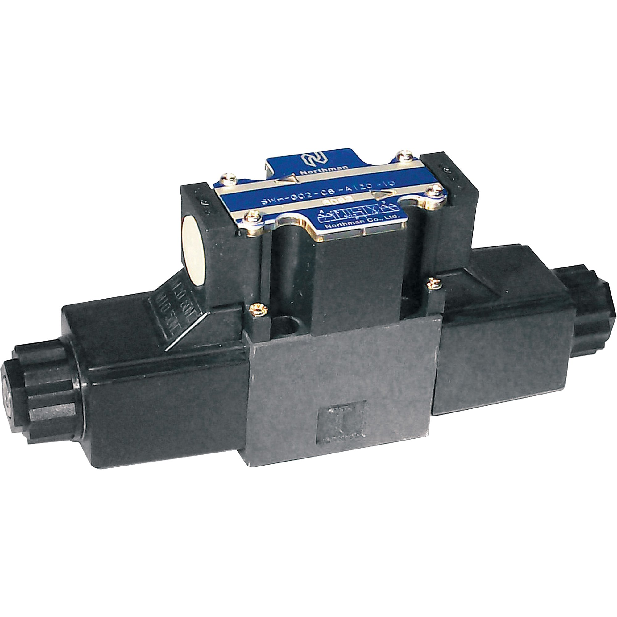 Northman Fluid Power Hydraulic Directional Control Valve - 10.7 GPM, 4500 PSI, 3-Position, Double Solenoid, Tandem Center Spool, 120 Volt AC Solenoids, Model# SWHG02C6R12010