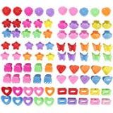 90 Pack Small Mini Flower Star Heart Butterfly Plastic Hair Claw Clips Jaw Barrettes Grip Clamps Pins Updo Decorative…