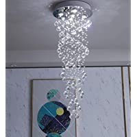 Junhong Lighting Chandelier LED 3 Brightness Clear K9 Crystal Ceiling Lights Fixture Lamps Chandeliers Pendant Lights…