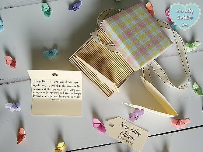 Amazoncom New Baby Quotes Parenthood Quotes Box Of 50 Handmade