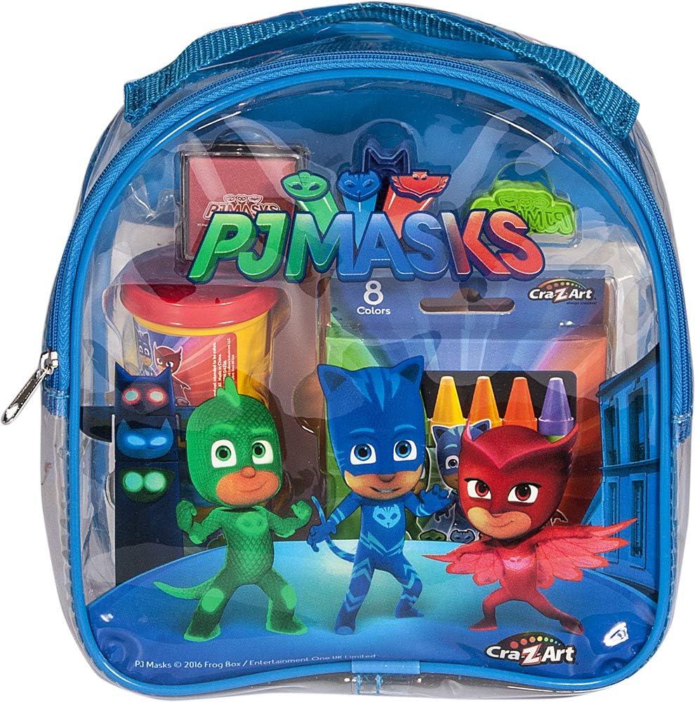 Cra-Z-Art Máscaras de PJ para colorear y mochila de actividades para niños-cojines de dibujo y libros, los colores pueden variar