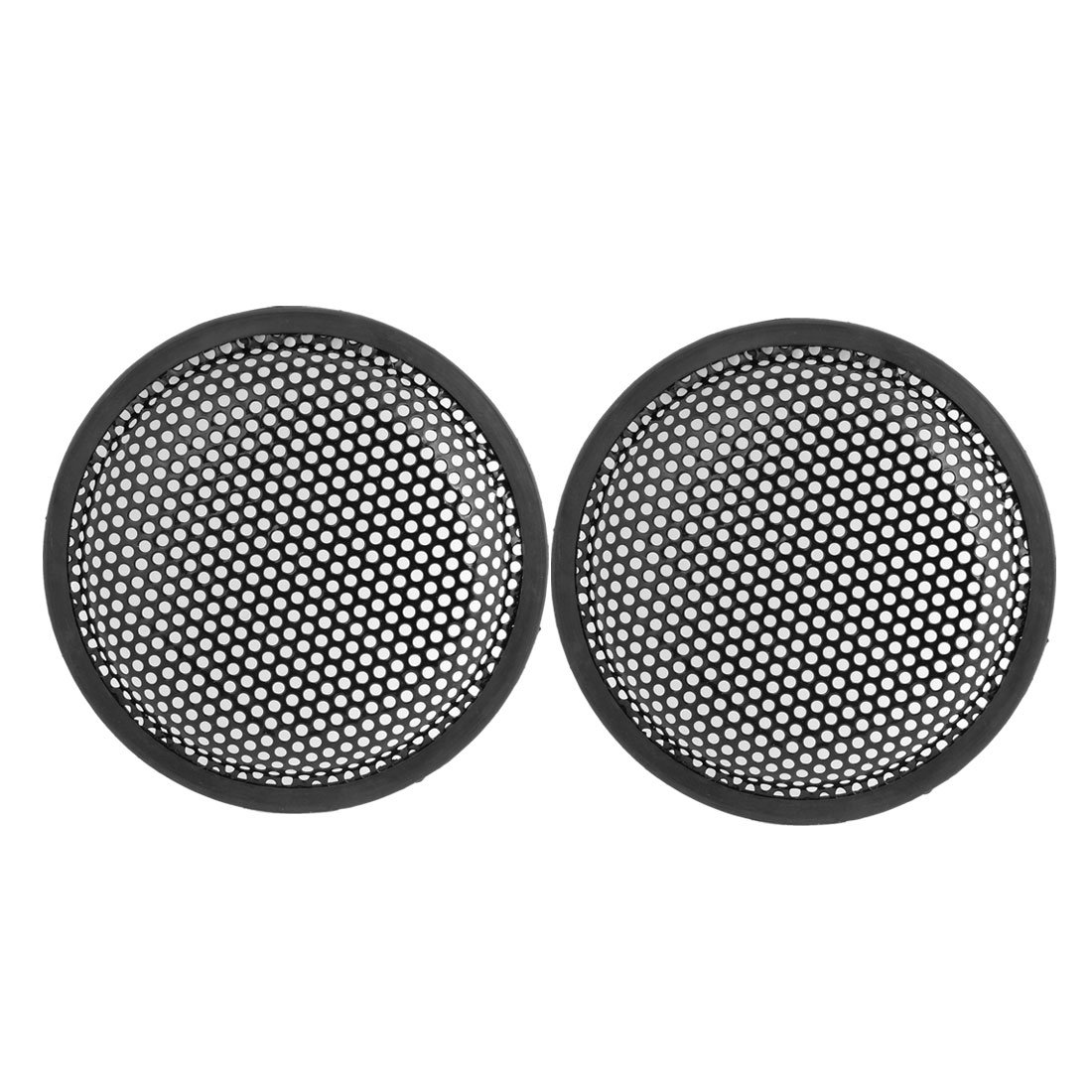 sourcingmap® 6.6' Dia Metal Mesh Round Car Woofer Cover Speaker Grill Black 2 Pcs sourcing map a14031500ux0093