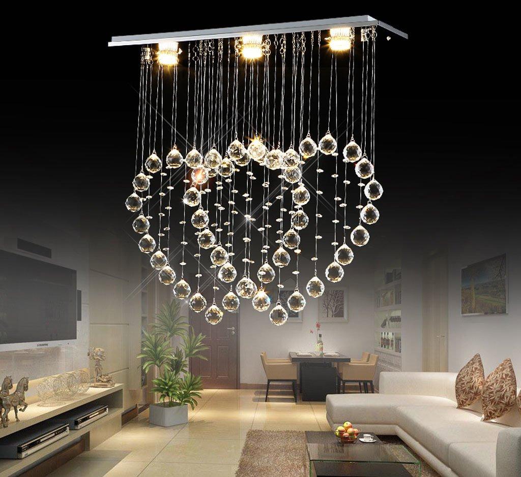 Heart-shaped Kronleuchter moderne minimalistische Restaurant Doppel-Herz-Draht hängen Kristalllampe Wohnzimmerlampe LED-Lüster Bar ( größe   60x20x60cm )