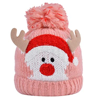 29b998140f0 Image Unavailable. Image not available for. Color  Fascigirl Boys Girls  Christmas Baby Winter Warm Knit Hat for Kid Infant Toddler Santa Knit Cap