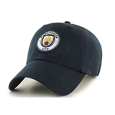 49025a836a3 Manchester City FC Adults Official Football Soccer Crest Baseball Cap (One  Size) (Navy) at Amazon Men s Clothing store