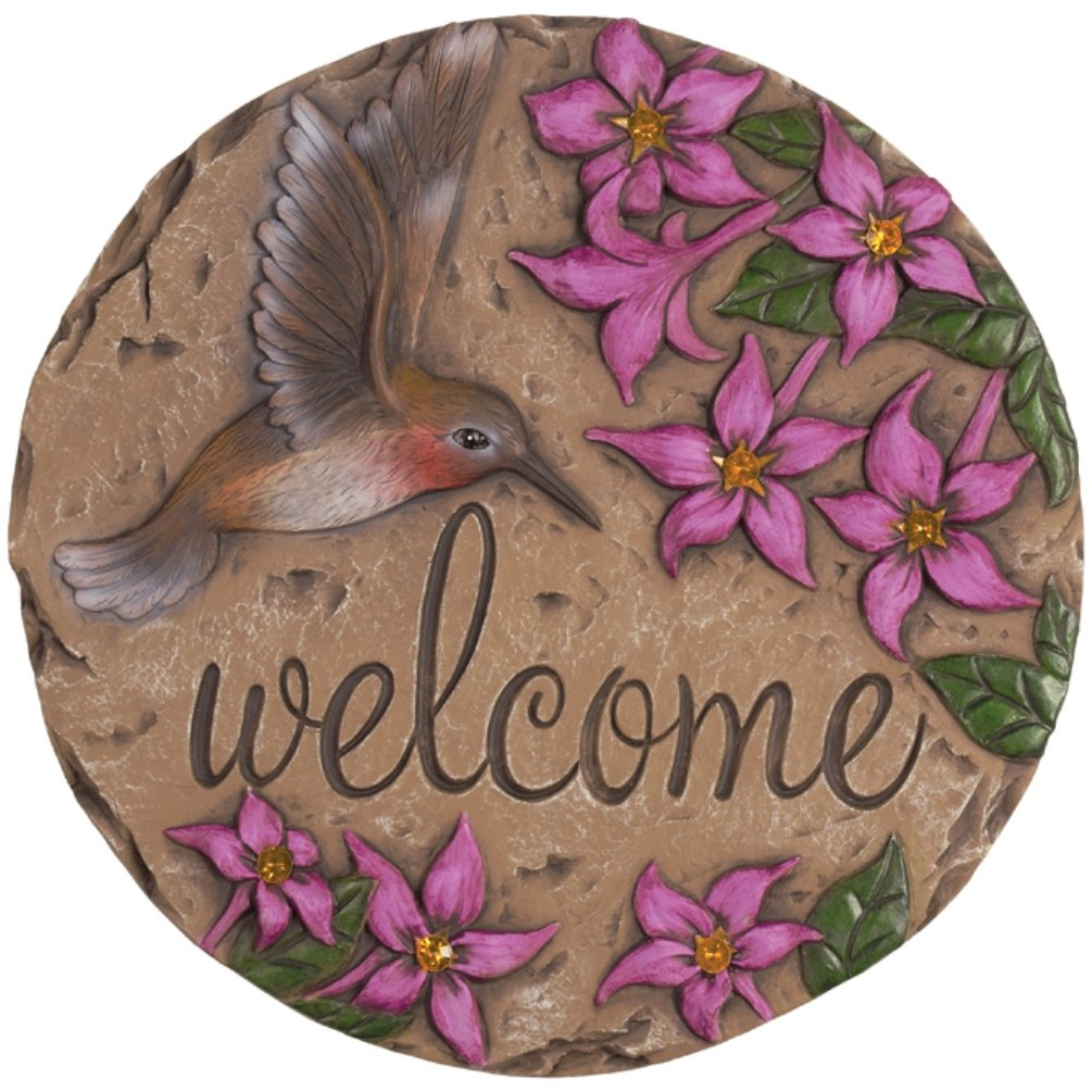 Carson Home Accents Welcome Hummingbird Decor Stepping Stone