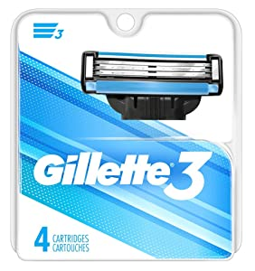 Gillette 3 Cartridges 4 Count (Fits Mach 3) (3 Pack)