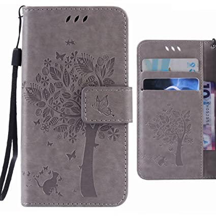 Fundas LG G5 Carcasa, Ougger Tree Cat Printing Billetera PU ...