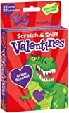 Peaceable Kingdom 28 Card Dinosaurs Grape Scented Scratch & Sniff Valentines with Envelopes