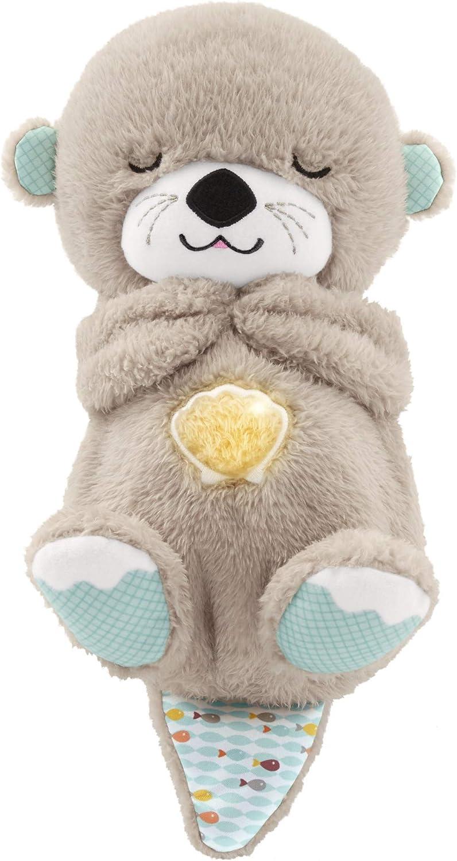Fisher-Price - Nutria Hora de Dormir, Juguete de Cuna y Peluche para Bebé Recién Nacido (Mattel FXC66)