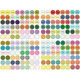 960 UNIDS Autoadhesivas Etiquetas Redondas Pegatinas para Aceite Esencial Perfume Esencia Loción Crema Aromaterapia Botella C