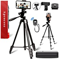 Apeocose 55'' Phone Tripod with Remote & Quick Release Plate, Lightweight Camera Tripod for iPhone, 360 Degree Rotatable…